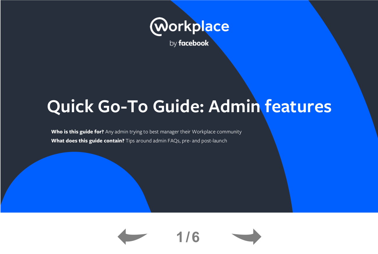 A Quick Guide to Workplace Admin Features