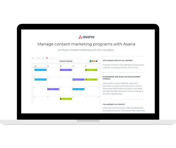 Asana  Manage Content Marketing Programmes - Transparent - Laptop Landscape (1)