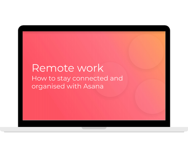 Asana - Remote Work - Transparent - Laptop Landscape
