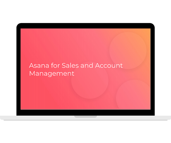 Asana - Sales and Account Management Transparent - Laptop Landscape