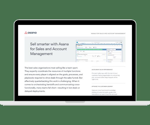 Asana - Sales and Account Management teams - Transparent - Laptop Landscape