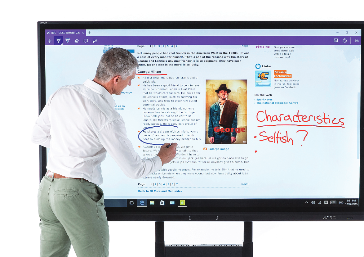 Avocor Interactive Smartboard Touch Screen Panel is Cheaper than Microsoft Surface Hub