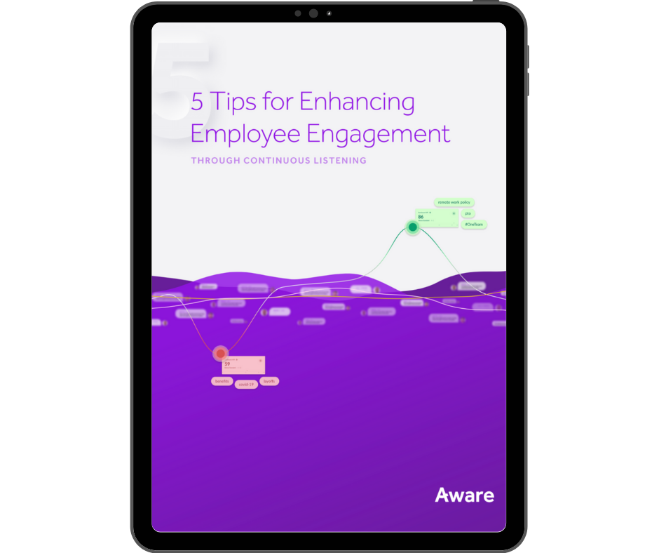 Aware - 5 Tips for Enhancing Employee Engagement - Transparent - Ipad Portrait