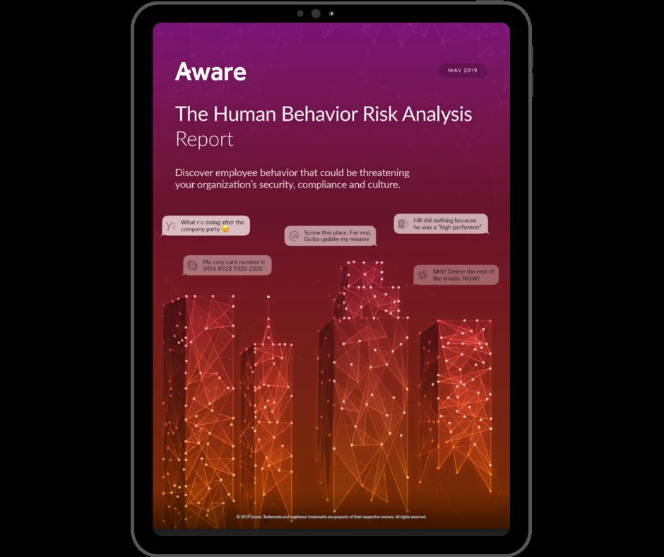 Aware - Human Behaviour Risk Analysis - Transparent - Ipad Portrait