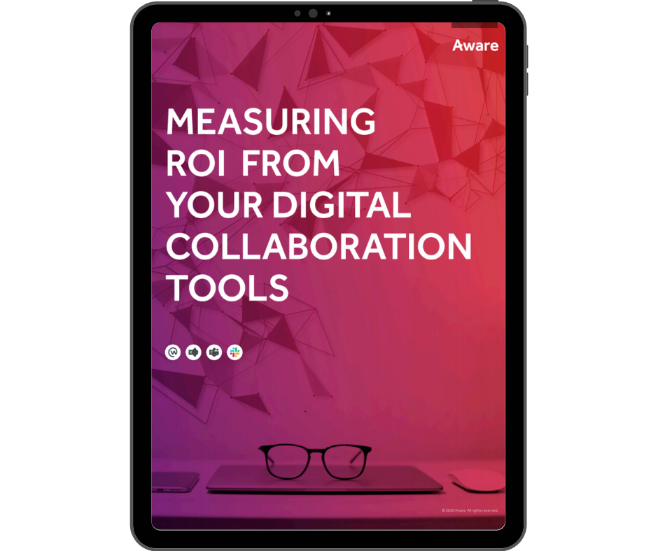 Aware - Measuring ROI from Collaboration Tools - Transparent - Ipad Portrait