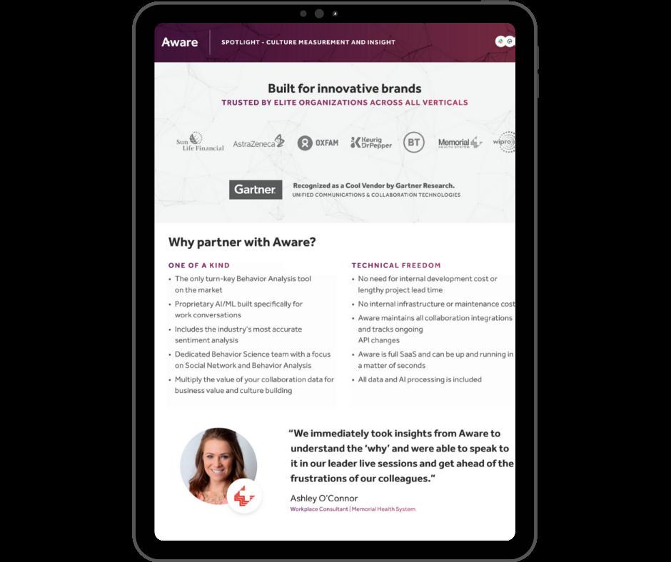 Aware - Overview - Transparent - Ipad Portrait