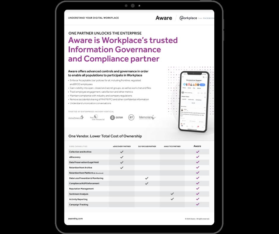 Aware - Workplace Datatsheet - Transparent - Ipad Portrait