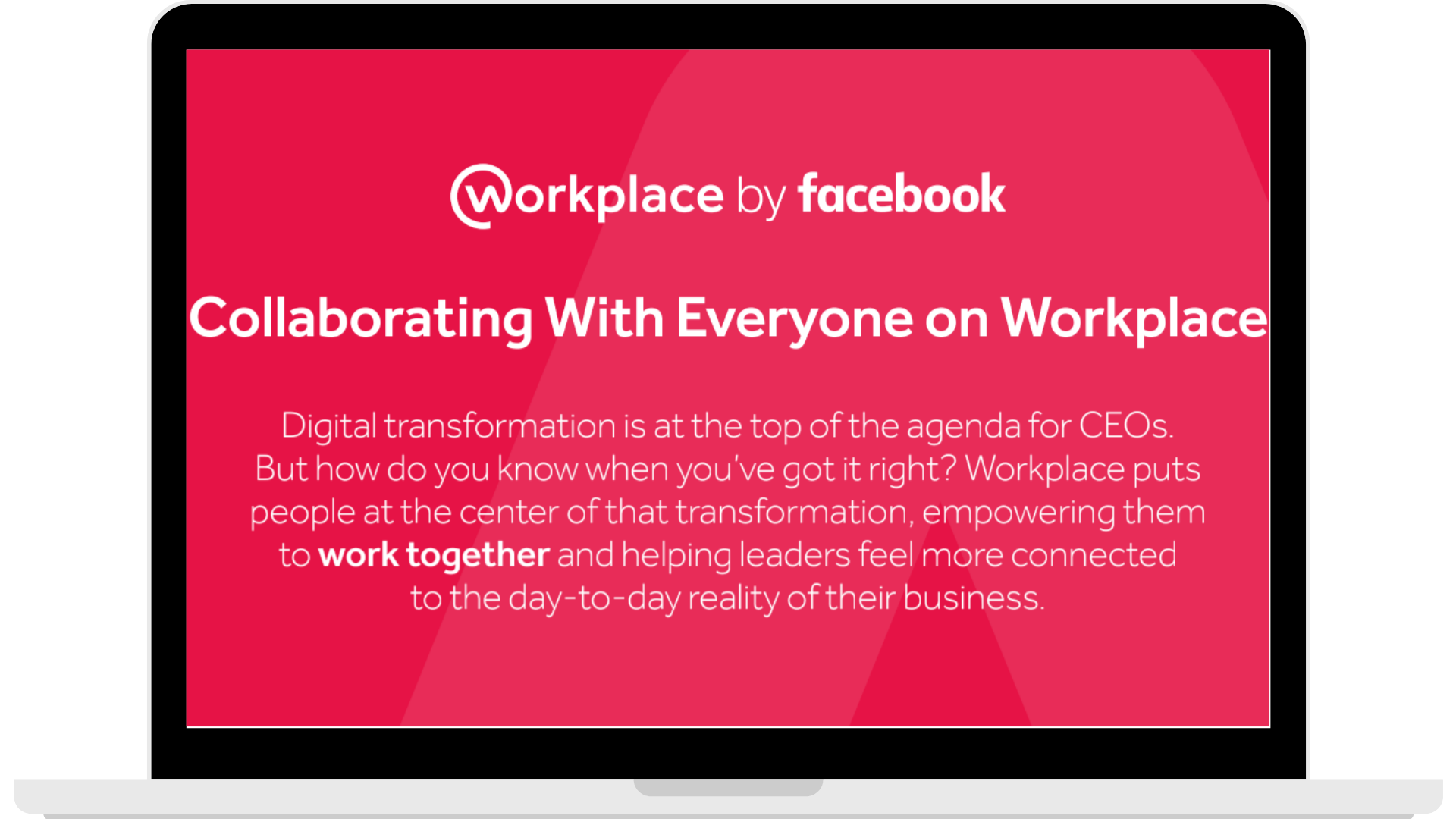 Collaborating with Everyone on Workplace - Laptop