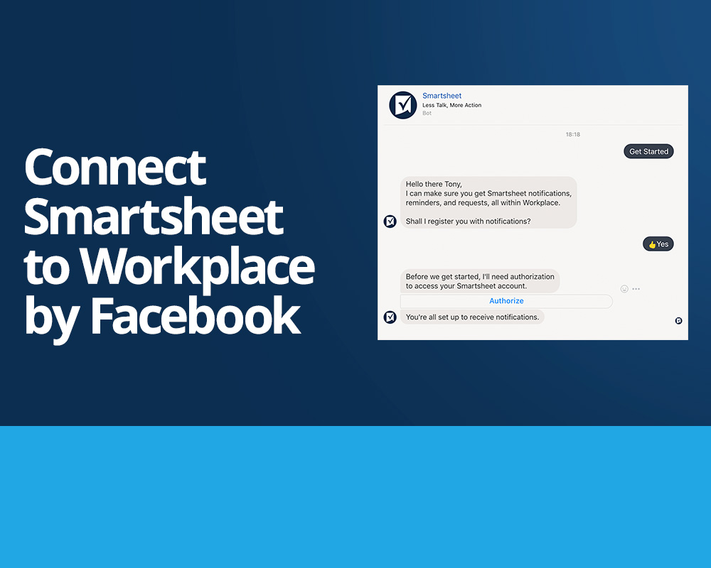 Connect Smartsheet to Workplace by Facebook
