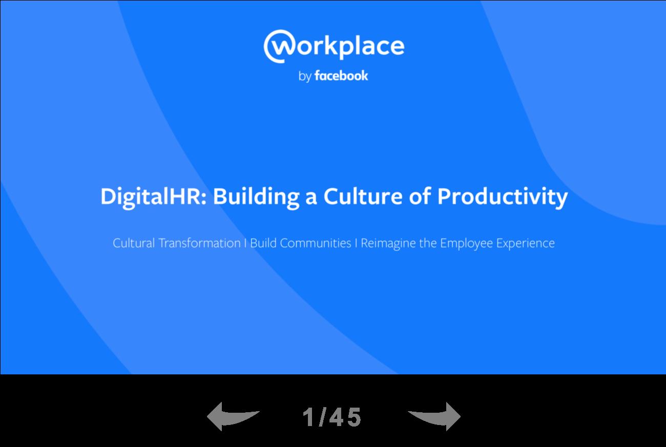 DigitalHR- Building a Culture of Productivity