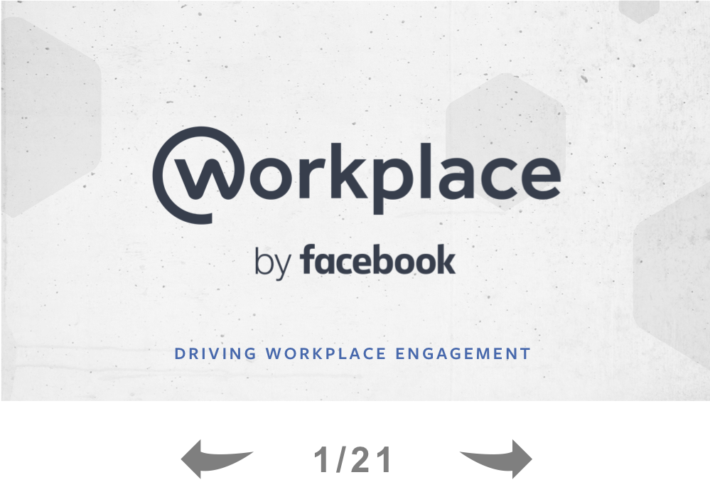Driving Employee Engagement on Workplace by Facebook