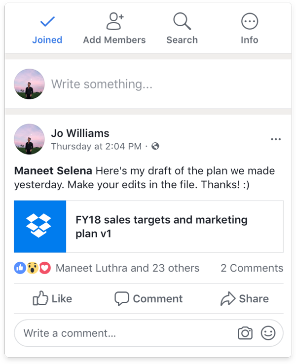 Workplace by facebook cloud storage integration