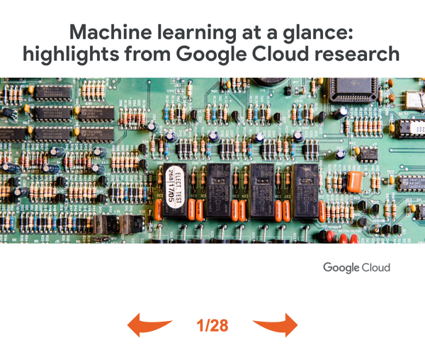 Machine learning at a glance- highlights from Google Cloud research THUMB