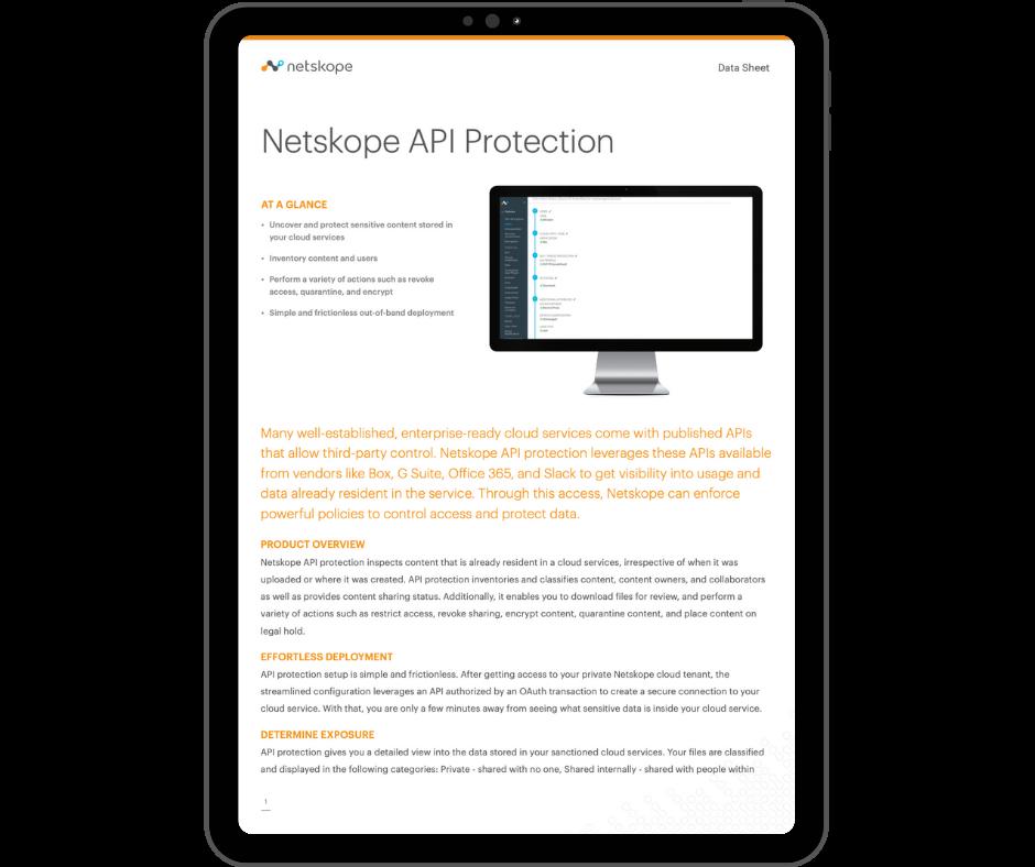 Netskope API Protection - Transparent - Ipad Portrait