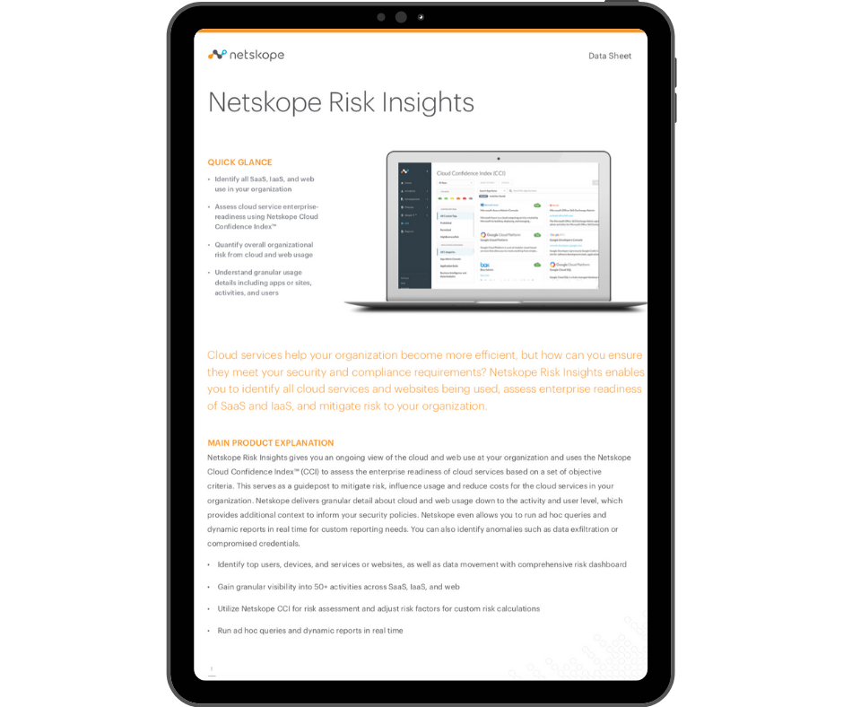 Netskope Risk Insights - Transparent - Ipad Portrait