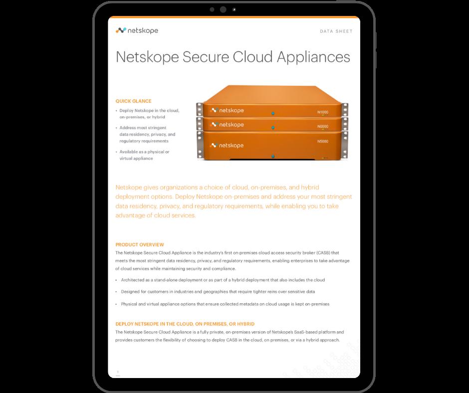Netskope Secure Cloud Applicances - Transparent - Ipad Portrait