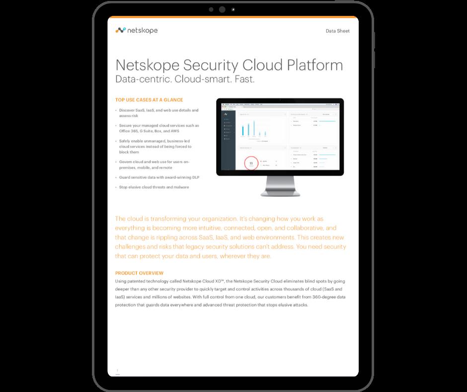 Netskope Security Cloud Platform - Transparent - Ipad Portrait