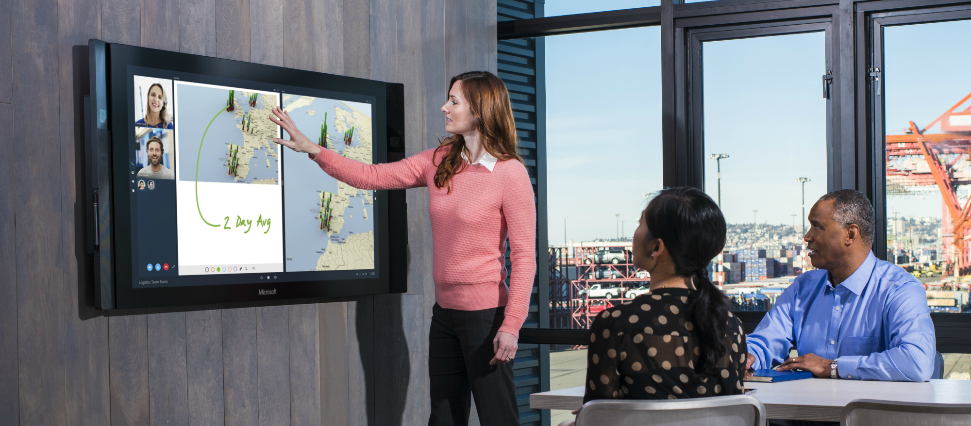 Meeting room with Surface Hub