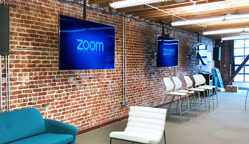 Zoom Rooms - digital signage