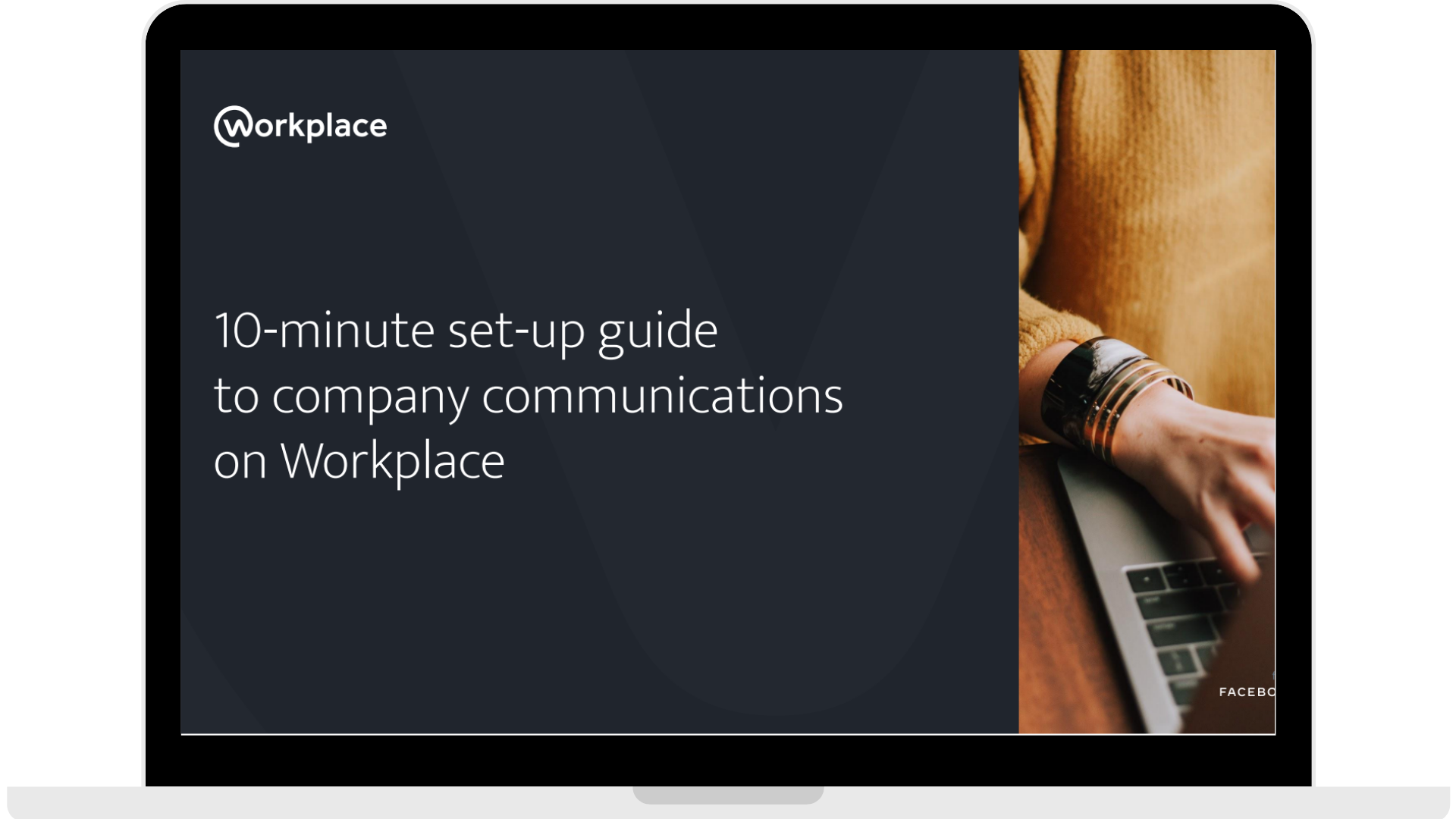 WPF - 10-minute set-up guide to company communications on Workplace - Laptop - Transparent