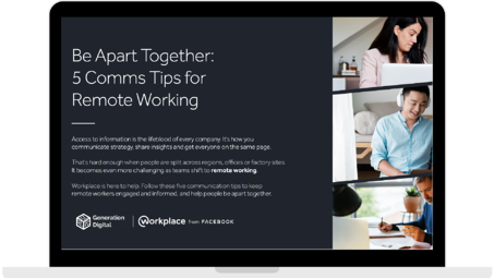 WPF - Be Apart Together_ 5 Comms Tips for Remote Working - Laptop - Transparent