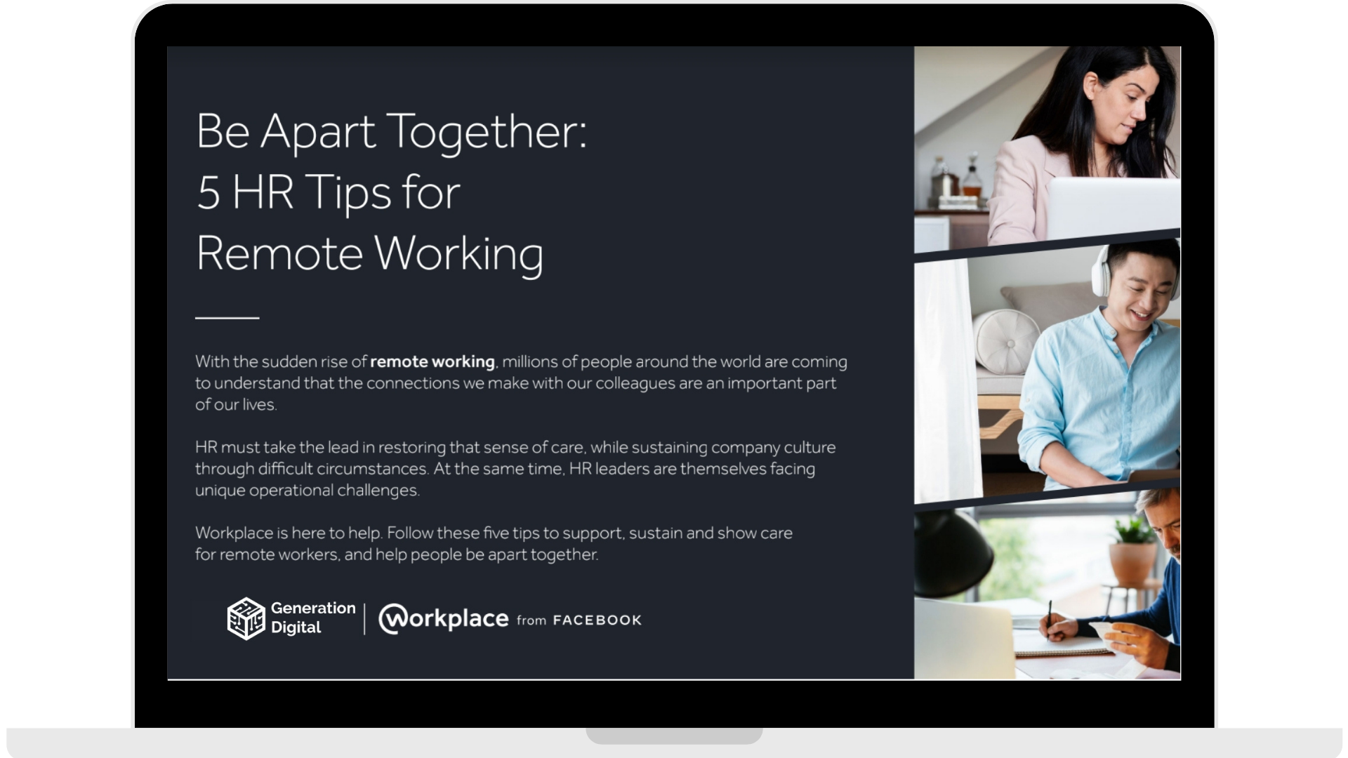 WPF - Be Apart Together_ 5 HR Tips for Remote Working - Laptop - Transparent