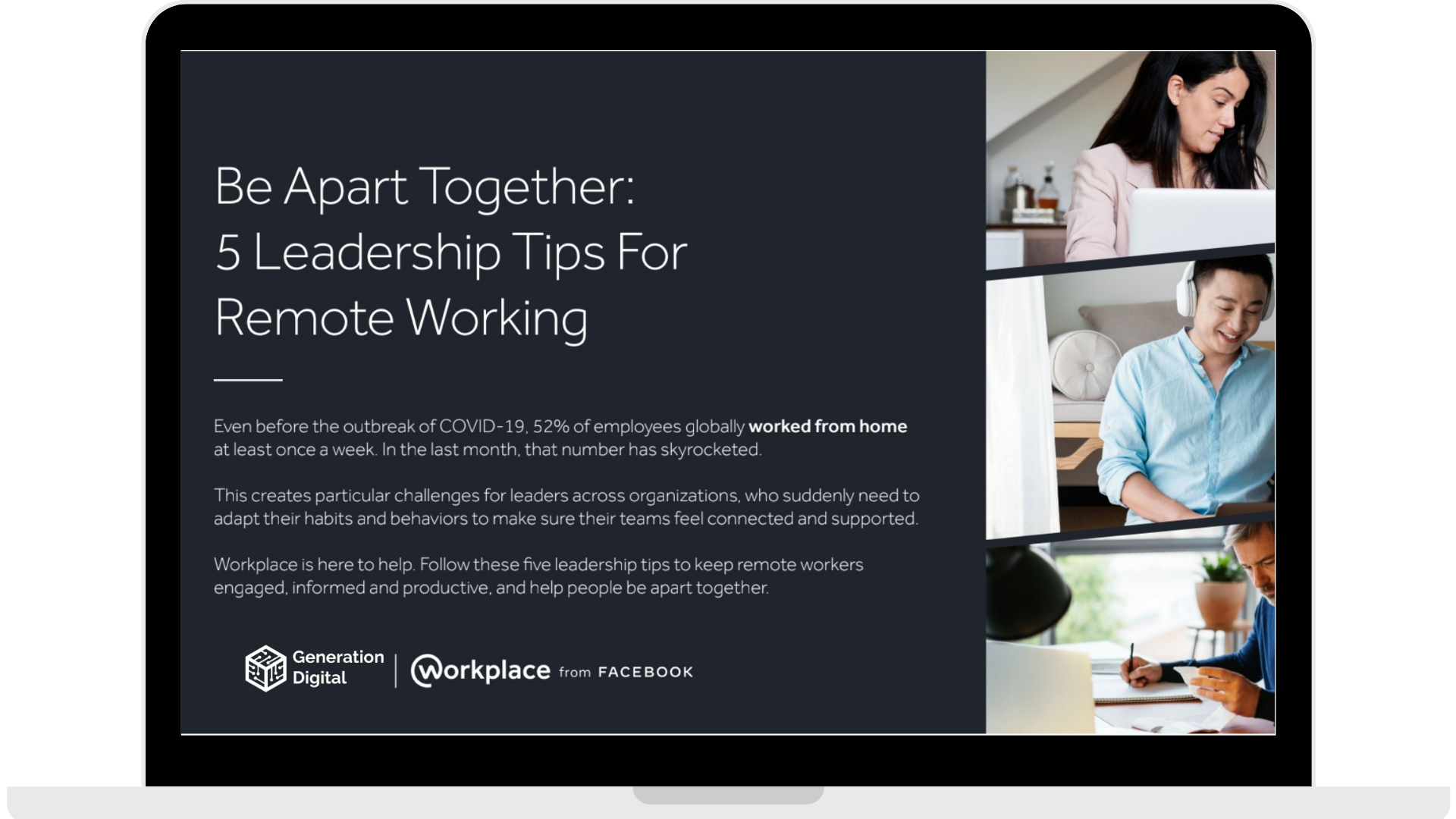WPF - Be Apart Together_ 5 Leadership Tips for Remote Working - Laptop - Transparent