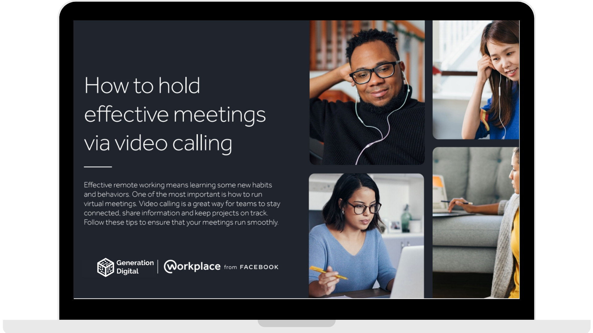 WPF - How to hold effective meetings via video calling - Laptop - Transparent