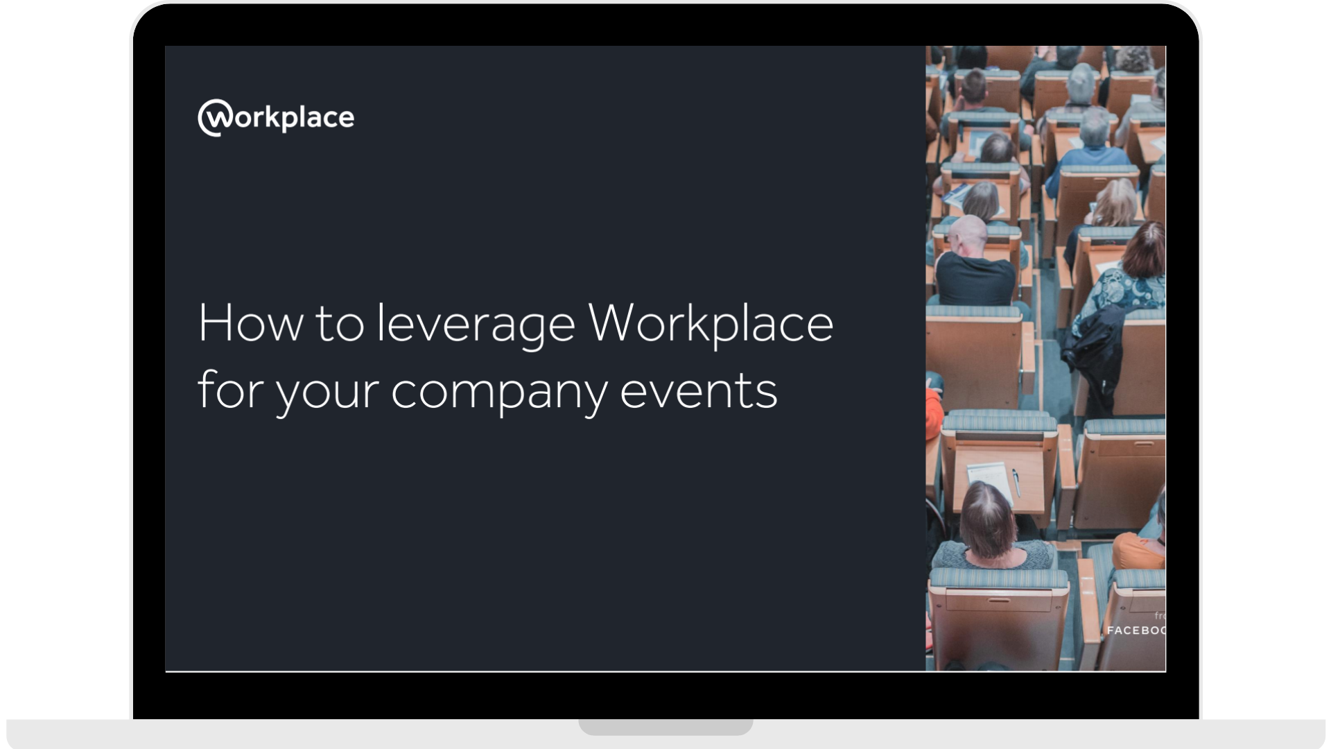 WPF - How to leverage Workplace for your company events - Laptop - Transparent