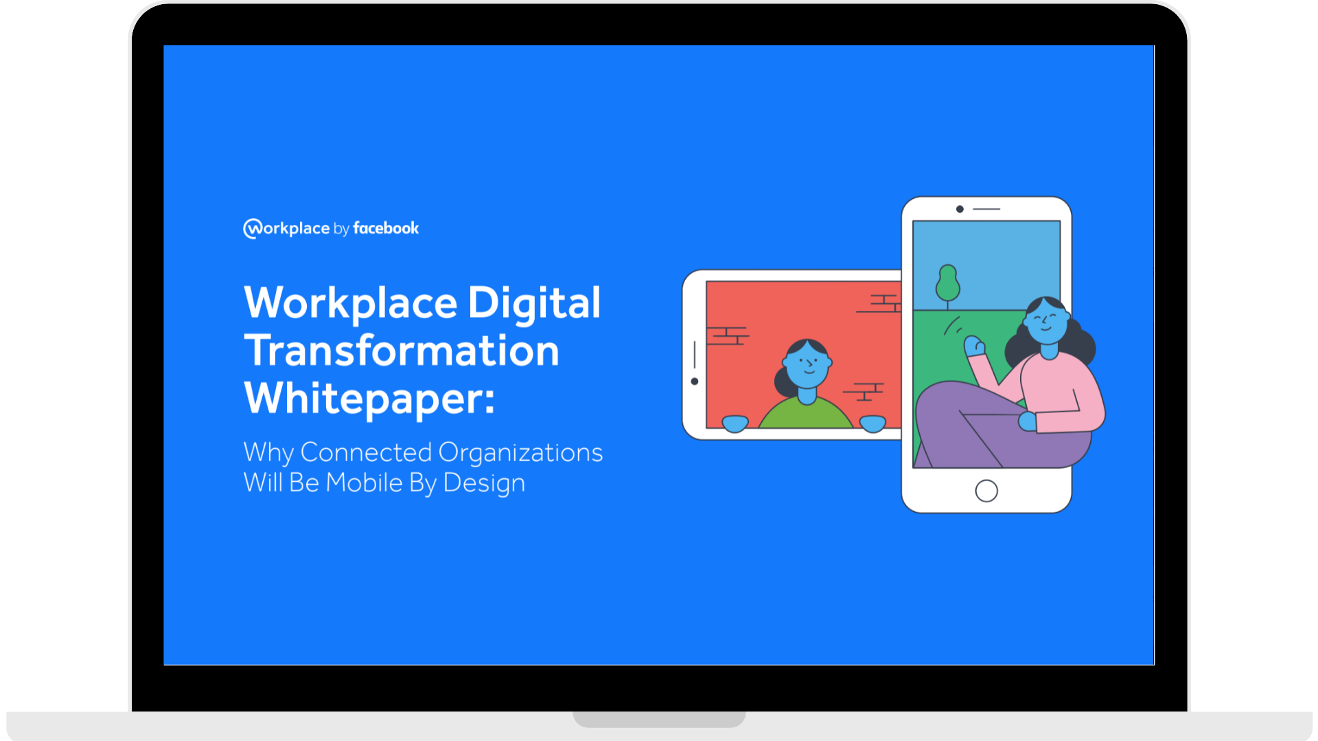 WPF - Whitepaper - Why Connected Organisations Will Be Mobile By Design - Laptop - Transparent