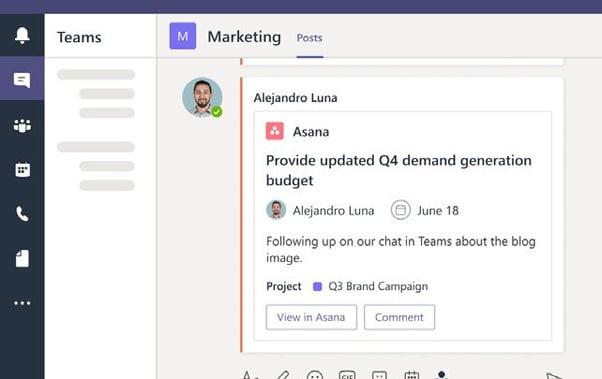 Asana and Microsoft Teams