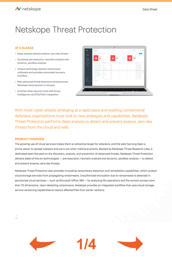 Netskope Threat Protection datasheet
