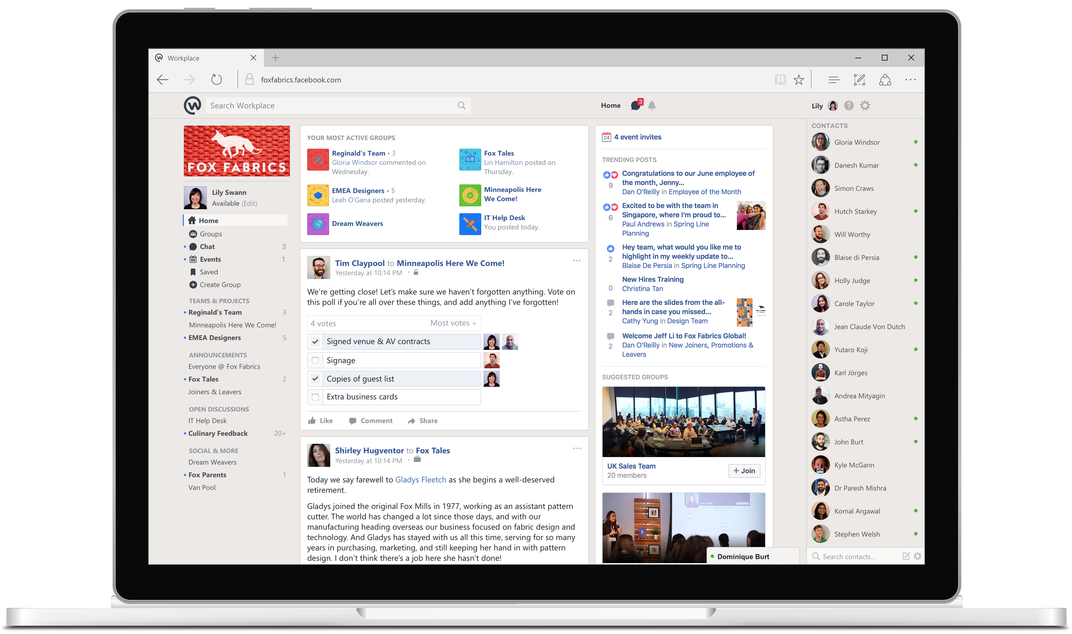 Workplace by Facebook Newsfeed - workplace online