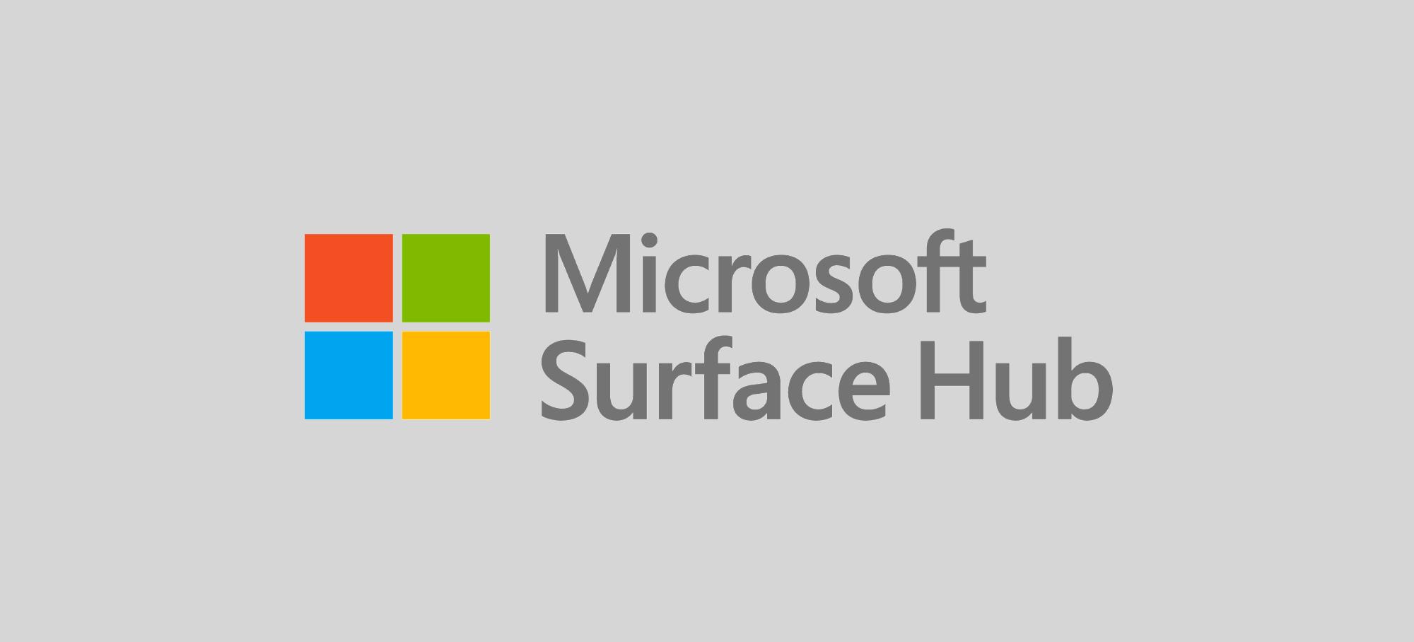 Microsoft surface hub demo