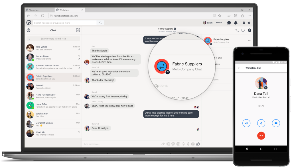 Workplace by Facebook - Multi-company chat feature