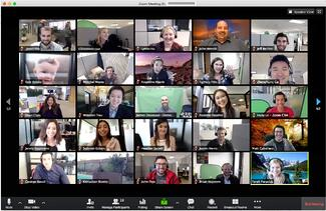 Zoom online meetings