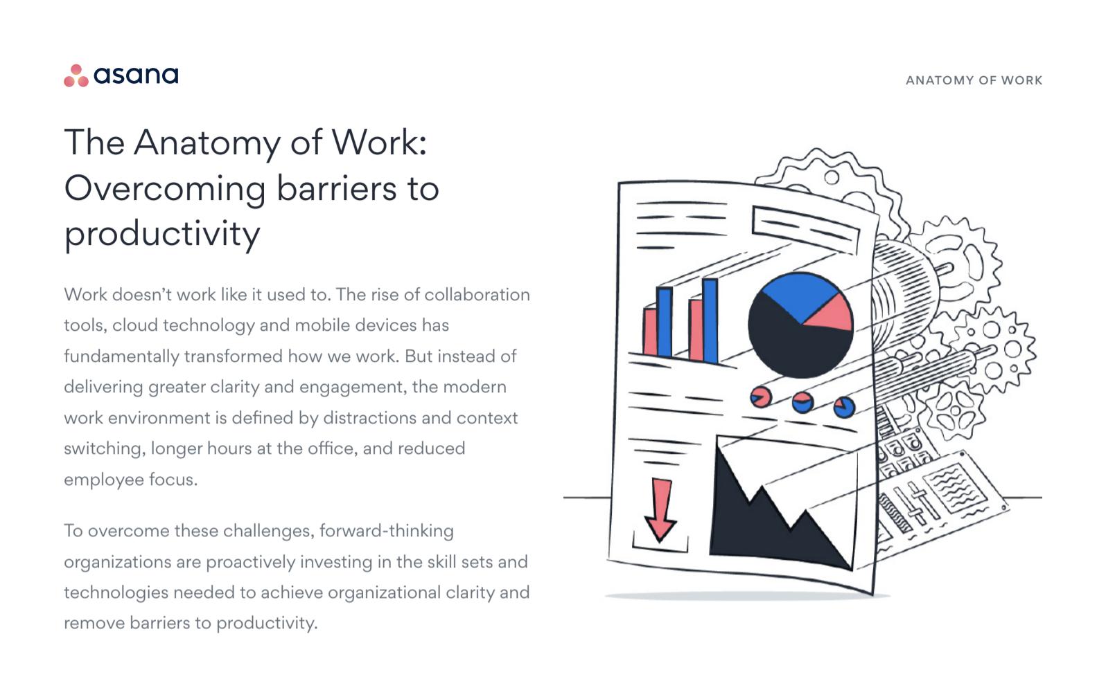 Asana - Anatomy of Work overcoming barriers to productivity
