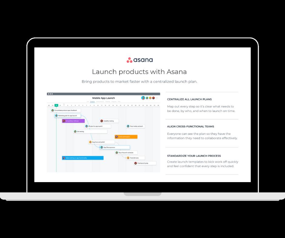 Asana - Product Launch - Transaparent - Laptop Landscape