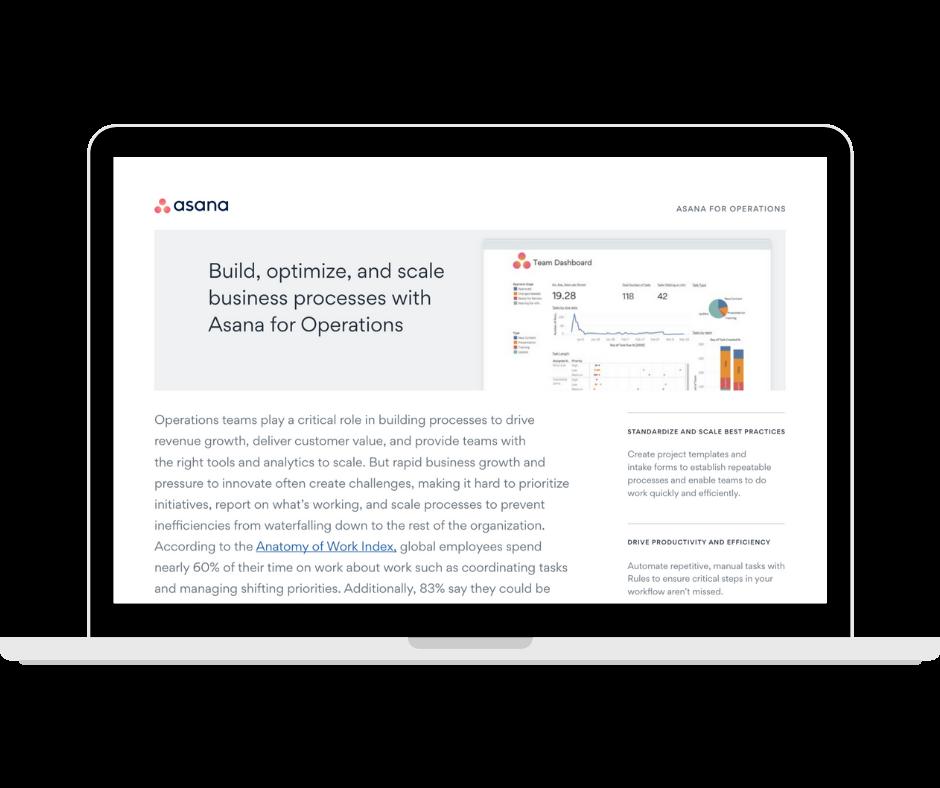 Asana for Business Operations -Transparent - Laptop Landscape