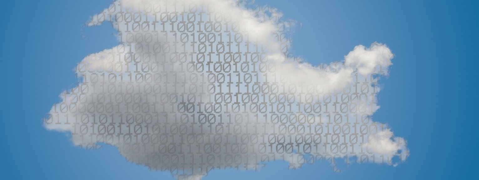 Clouds made from binary numbers