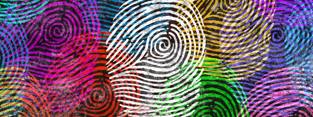 Colourful fingerprints identity